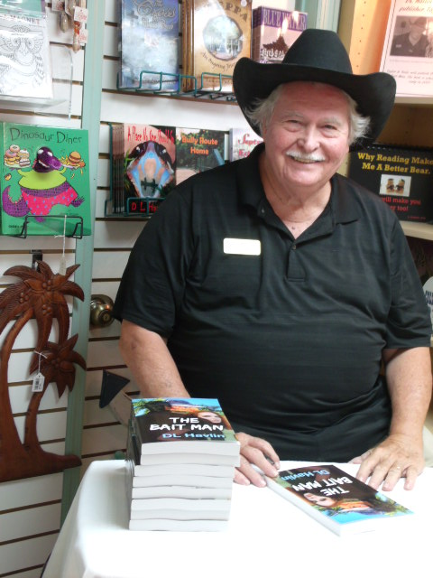 """""""The Bait Man""""  signing at Matlacha Menagerie"""