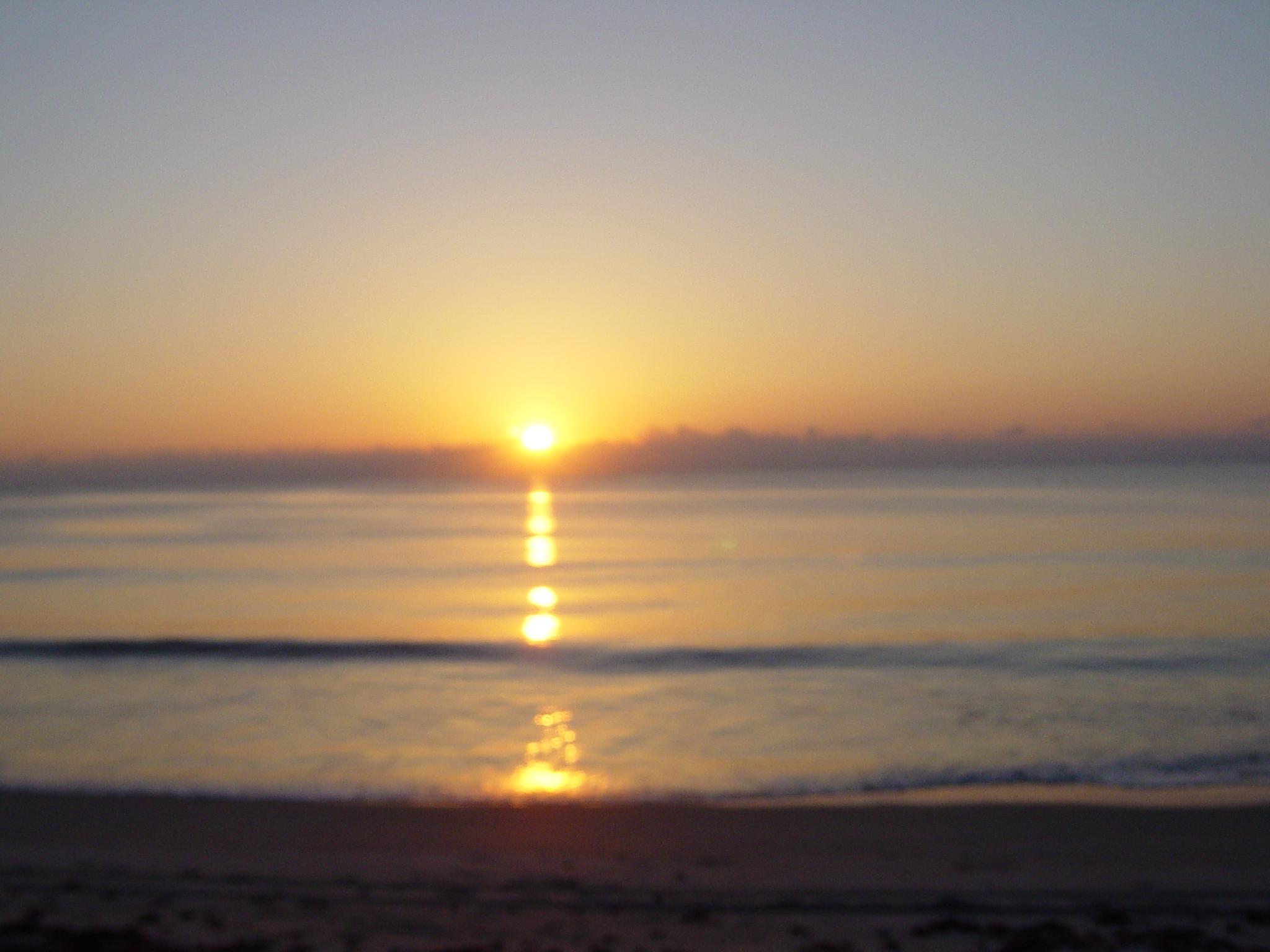 Sunrise on beach at Endeavor shuttle launch 5/15/11